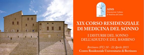 XIX Corso Residenziale di Medicina del Sonno